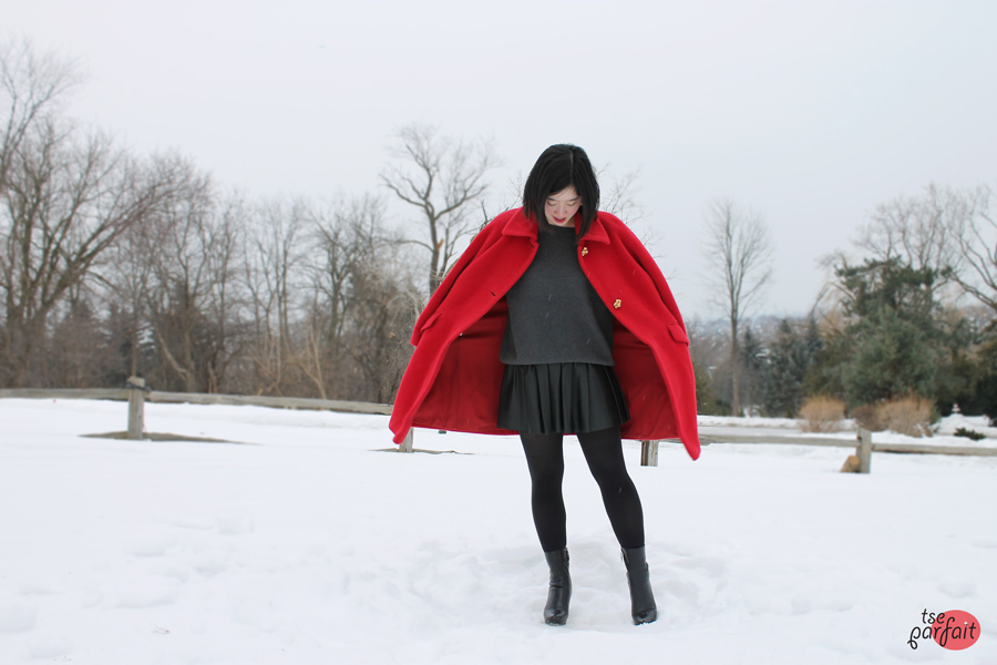 strawberry fields red coat